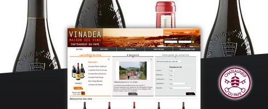 Mise en ligne du site de La Maison des vins de Châteauneuf-du-Pape