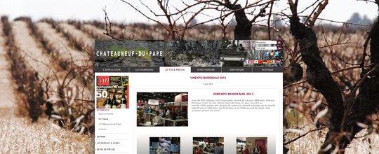 Mise en ligne du site de La Fédération des vins de Châteauneuf-du-Pape