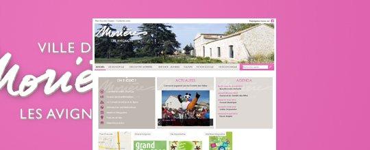 Création du site de la Mairie Morières-lès-Avignon par l'agence UGOCOM