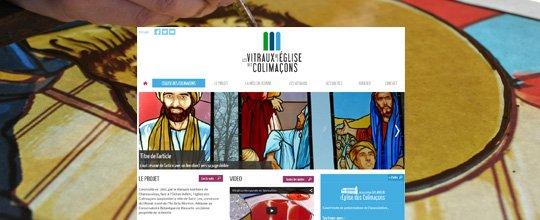 Création du site Les Vitraux de L'Eglise des Colimaçons par l'agence UGOCOM