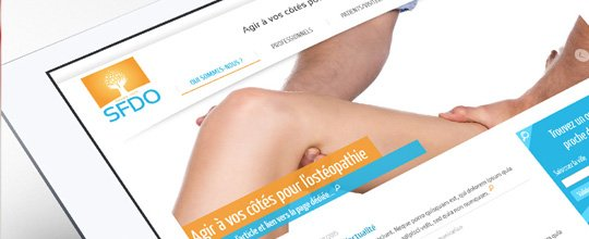 Nouvelle Identité & nouveau site Web pour le Syndicat Français Des Ostéopathes !